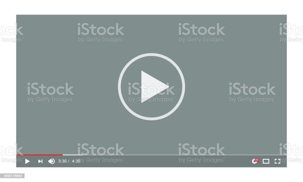 Lecteur vidéo dans un style plat. Idéal pour le Web et application - clipart vectoriel de A la mode libre de droits