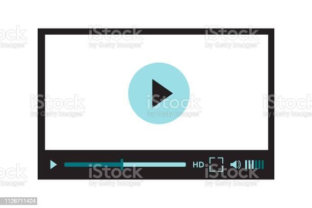 Interface Du Lecteur Vidéo Pour La Conception De Site Web Ou Application Mobile Illustration Vectorielle Sur Blanc Vecteurs libres de droits et plus d'images vectorielles de Application mobile