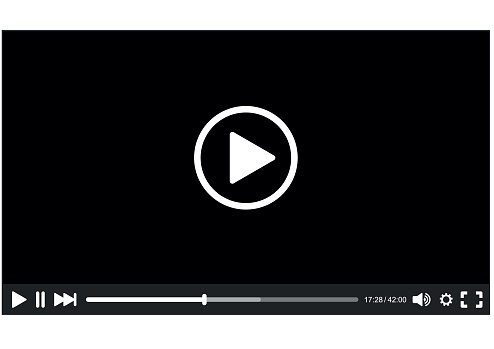 Video Player interface for Web. Vector