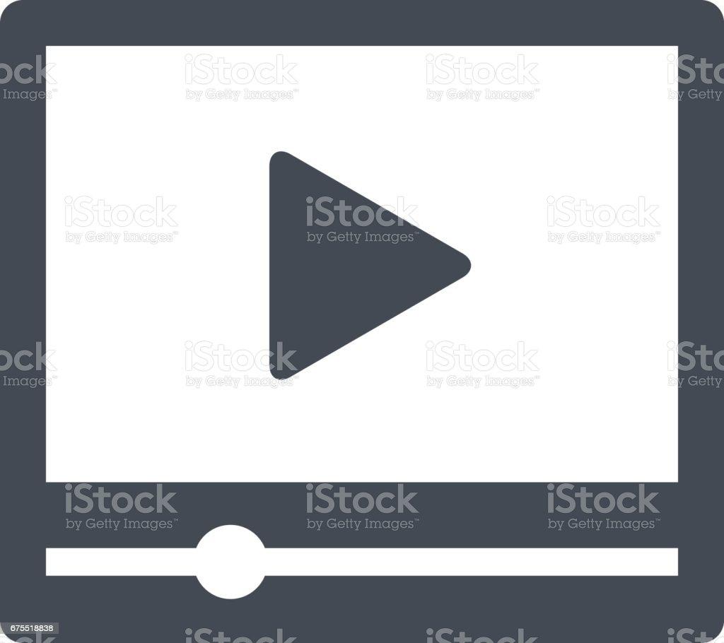 Video player interface vector art illustration