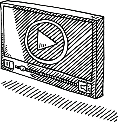 Video Player Symbol Drawing Stock Illustration - Download Image Now