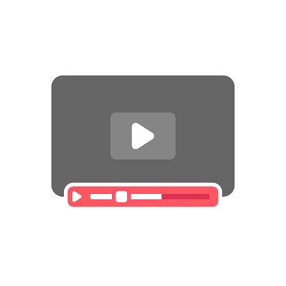 Video Player Template Flat Design.