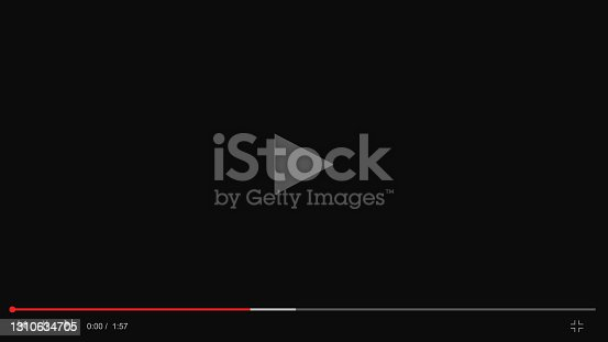 istock Video player template for web or mobile apps. Blogging 1310634705