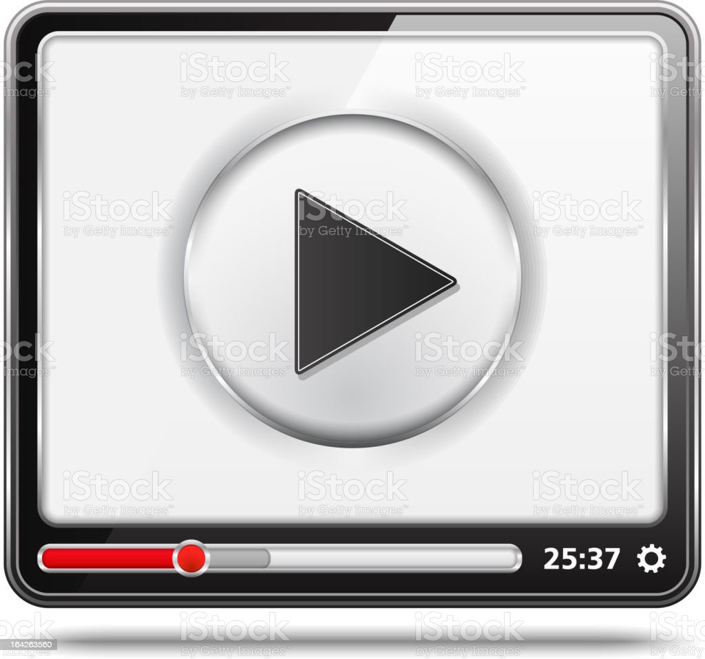 Video Player royalty-free stock vector art