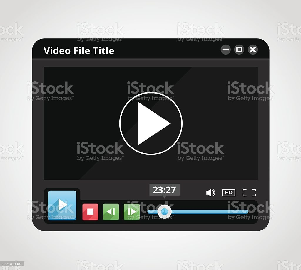 Video Player royalty-free video player stock vector art & more images of backgrounds