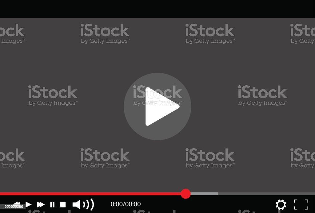 Video Player Vector illustration