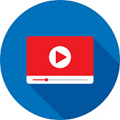 istock Video Player Widescreen Icon Flat 1158691457