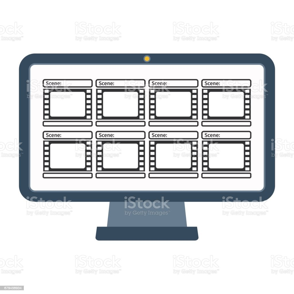 video production computer royalty-free video production computer stock vector art & more images of abstract