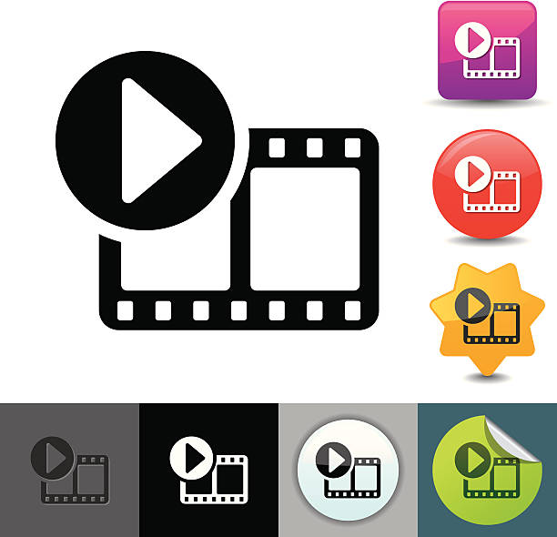 Video streaming icon | solicosi series vector art illustration