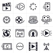 Video Streaming Icons and Symbols