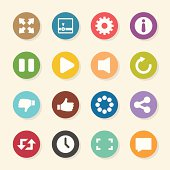 Video Streaming Icons - Color Circle Series