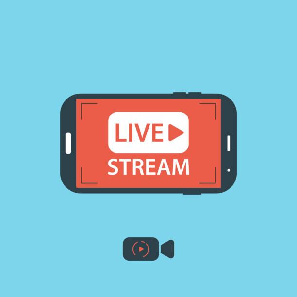Video streaming on mobile phone.Vector illustration – Vektorgrafik