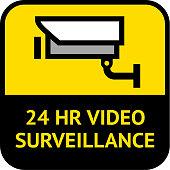 Video surveillance, cctv label square shape