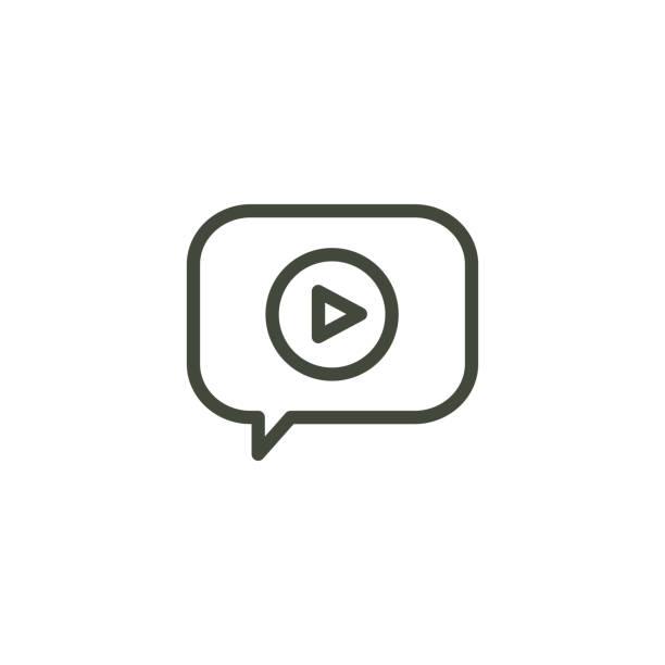 stockillustraties, clipart, cartoons en iconen met video onderwijs en opleiding-informatieve video-icoon/video-knop - youtube