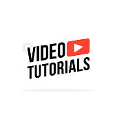 istock Video tutorial vector icon. Webinar training online video tutorial marketing flat media 1252310339