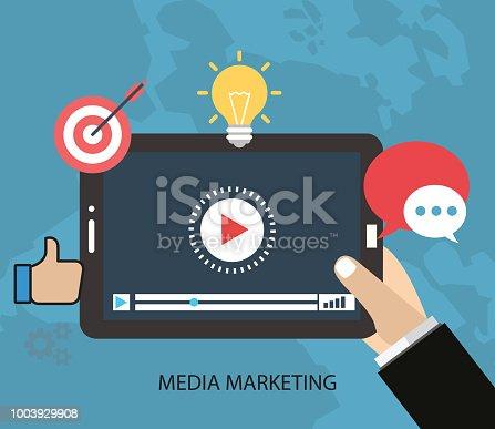 istock Video tutorials concept Media Marketing 1003929908