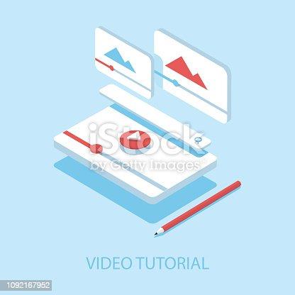 istock Video Tutorials Isometric Illustration and Flat Design. 1092167952