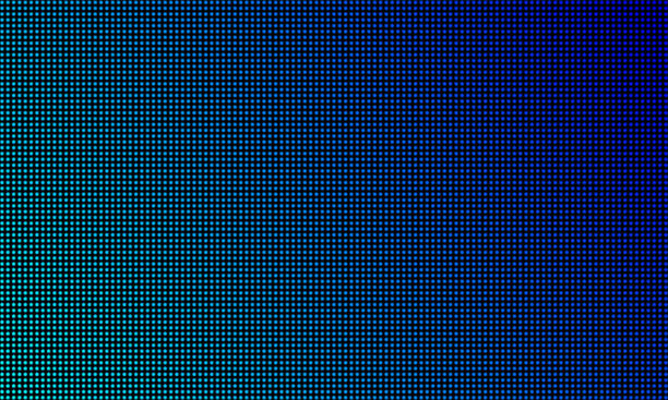 LED video wall screen texture background. Vector blue light LED diode gradient, digital video screen LED video wall screen texture background. Vector blue light LED diode gradient, digital video screen extreme close up stock illustrations