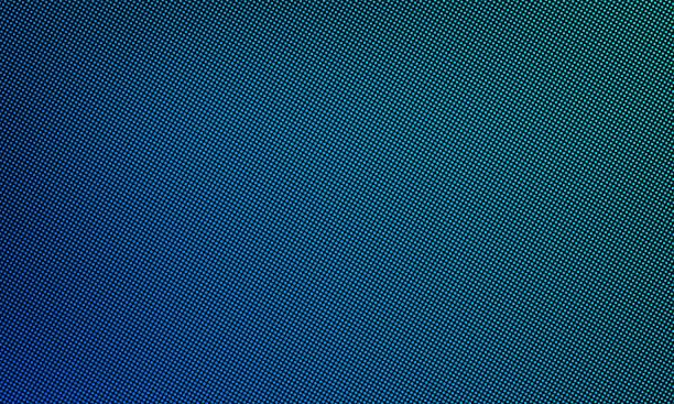 ilustrações, clipart, desenhos animados e ícones de led de vídeo parede textura tela de fundo. vector digital azul luz led dot malha gradiente padrão - led