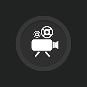 istock Videocamera icon. Record symbol vector icon for website design, mobile app, ui. Social media multimedia communication digital marketing internet web and connect theme. Vector Illustration. 1278007317
