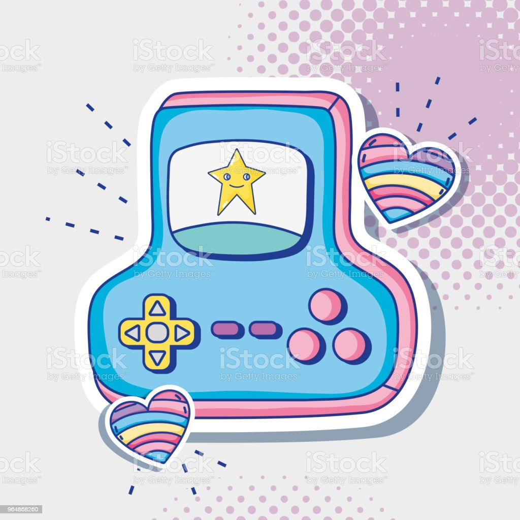 Videogame retro console cartoon royalty-free videogame retro console cartoon stock vector art & more images of 1980