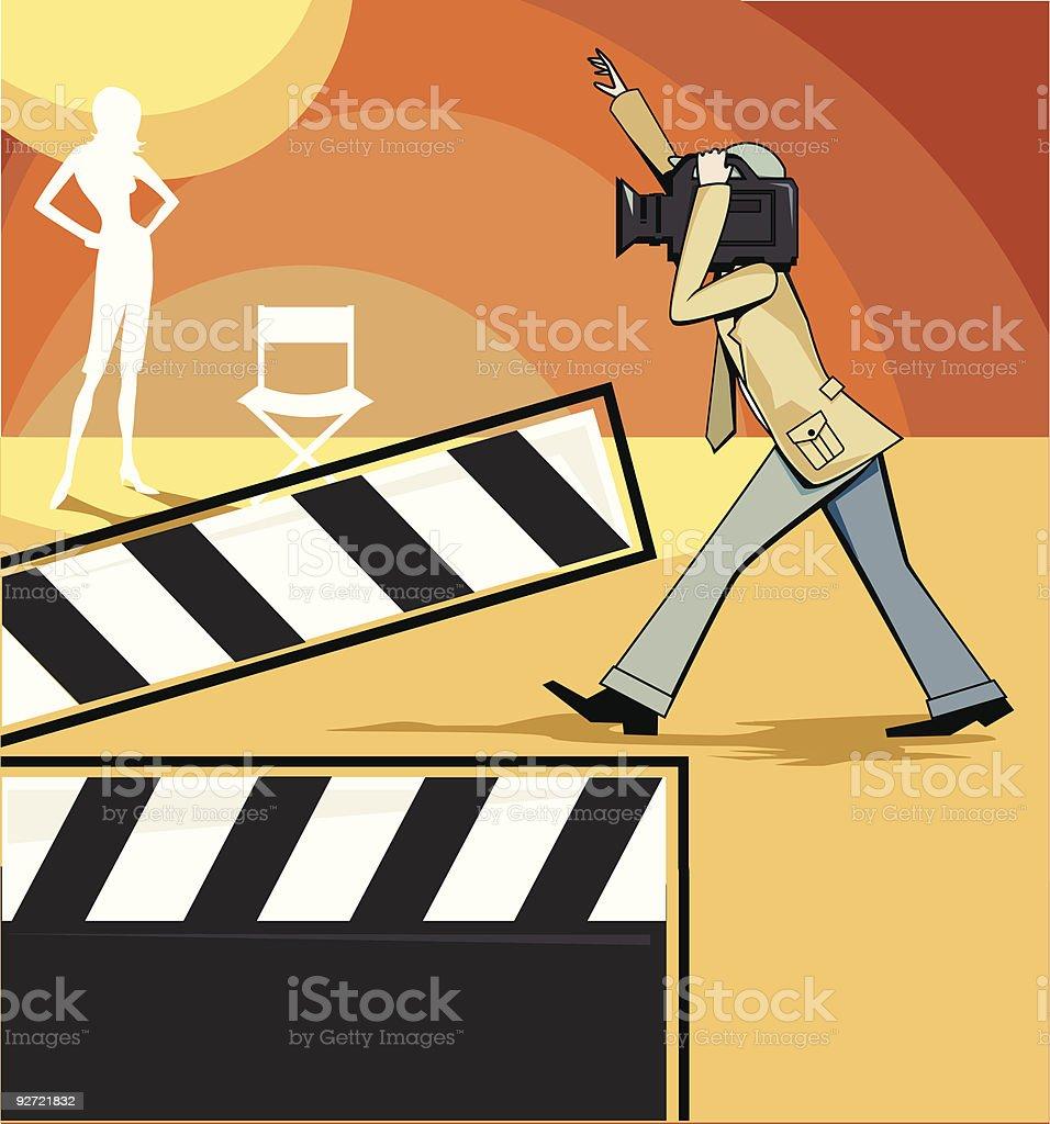 Videographer royalty-free stock vector art