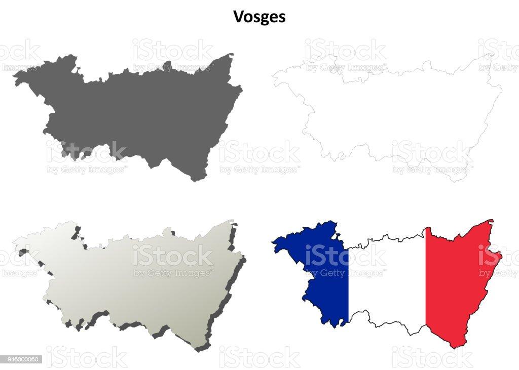 Vienne Poitoucharentes Outline Map Set Stock Vector Art More