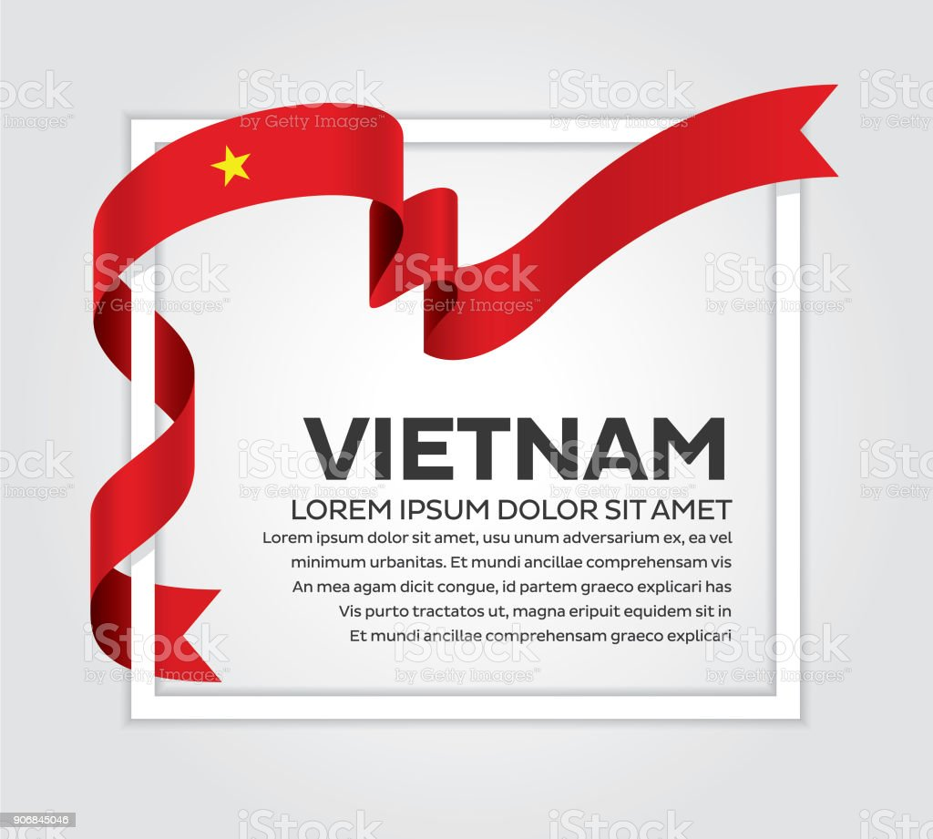 Vietnam flag background vector art illustration