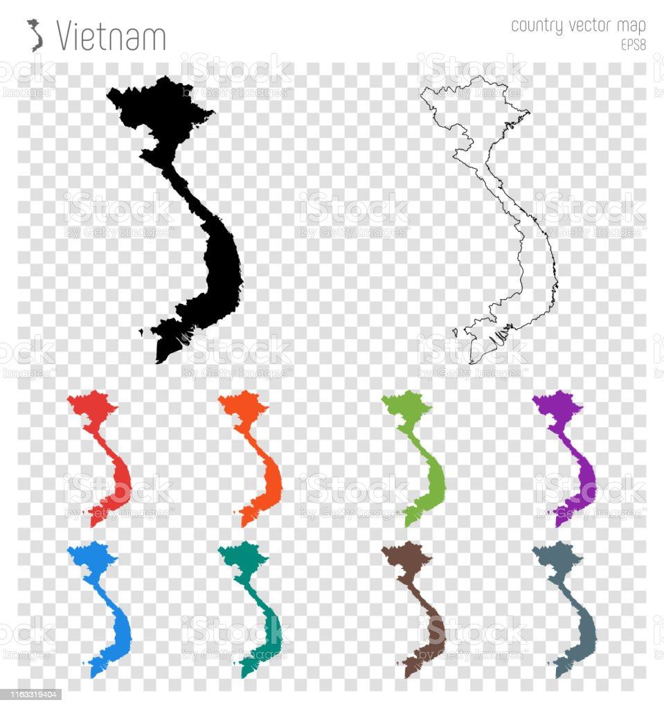 Picture of: Vietnam High Detailed Map Stock Illustration Download Image Now Istock