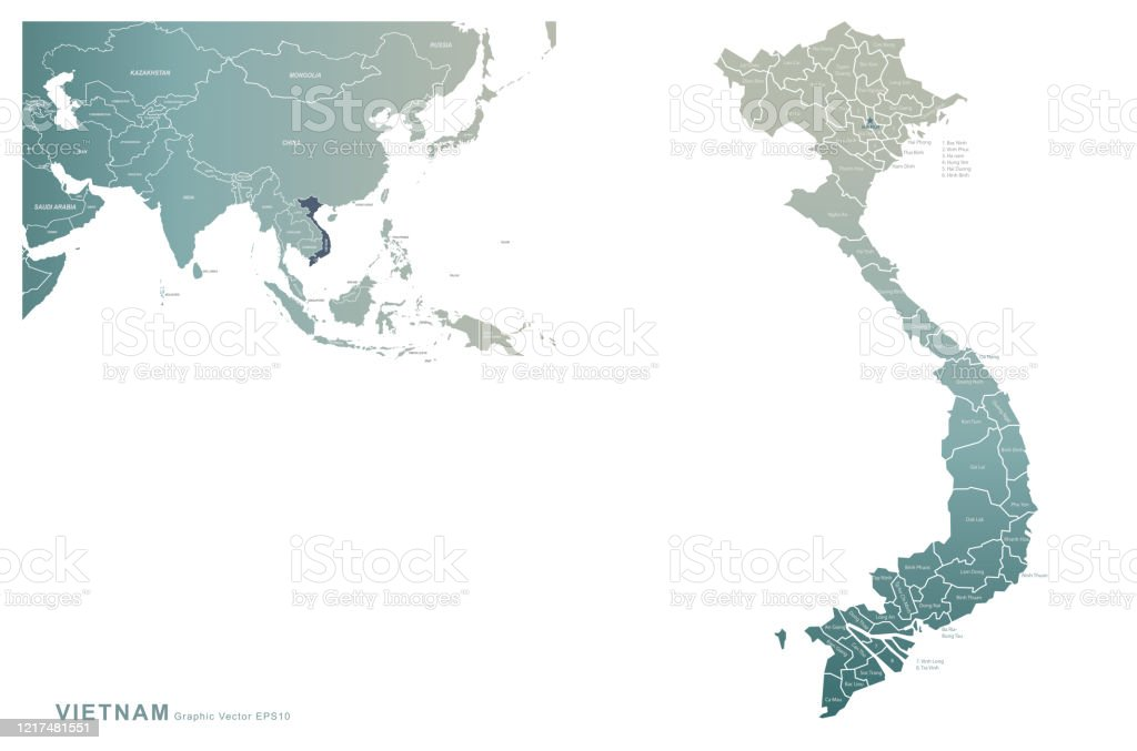 Vietnam Map Vector Map Of Vietnam In Asia Stock Illustration Download Image Now Istock