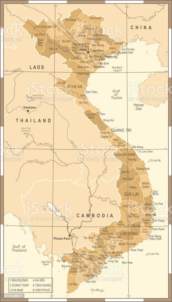 Vietnam map vintage vector illustration stock vector art more vietnam map vintage vector illustration royalty free vietnam map vintage vector illustration stock vector gumiabroncs Images