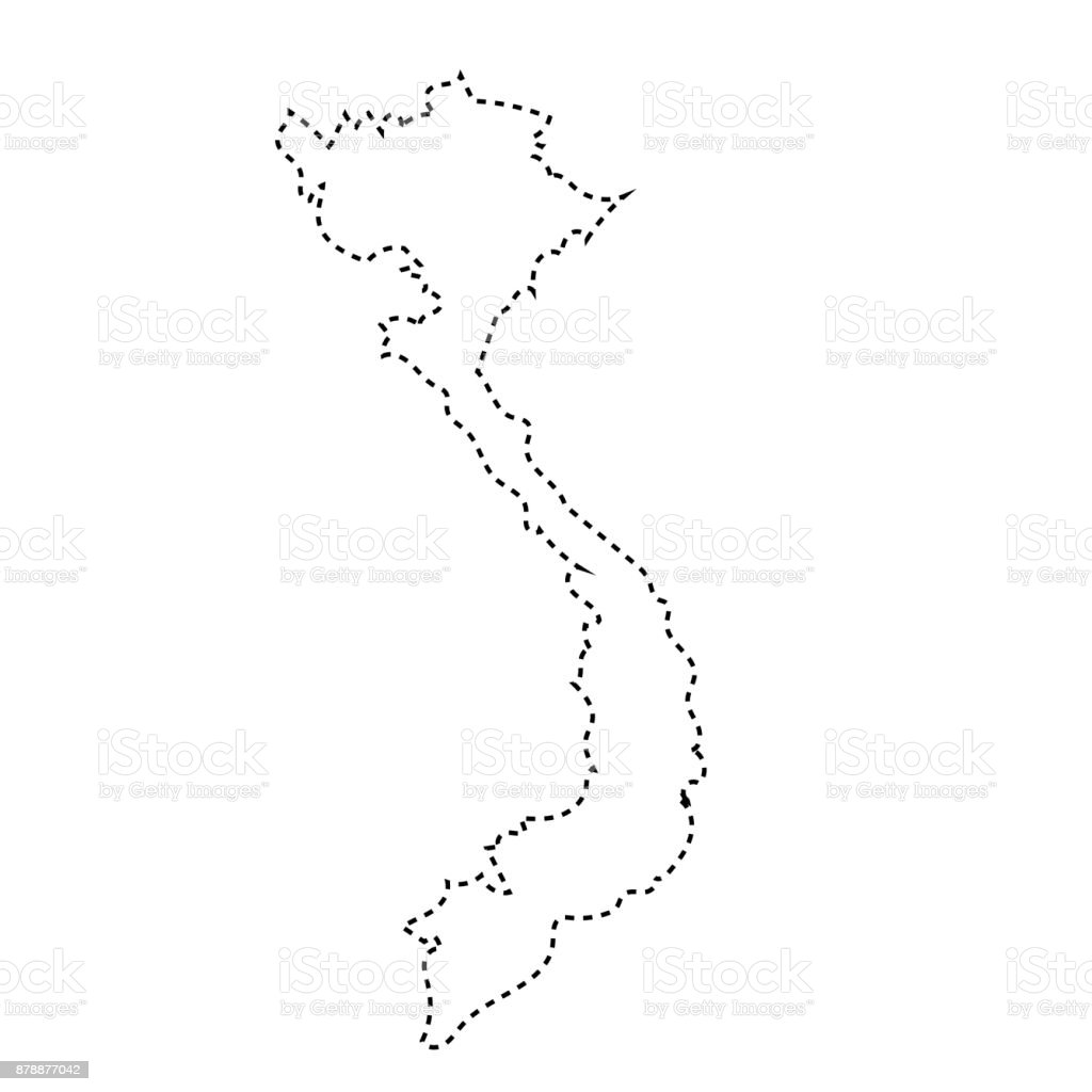 Picture of: Vietnam Outline Map Stock Illustration Download Image Now Istock