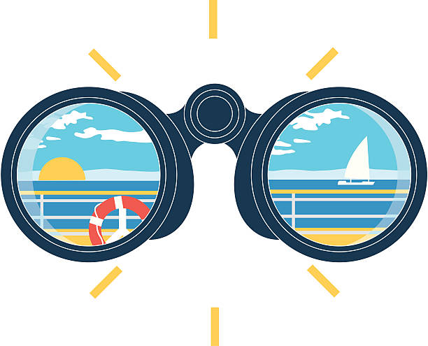 view binoculars The binoculars image binoculars stock illustrations