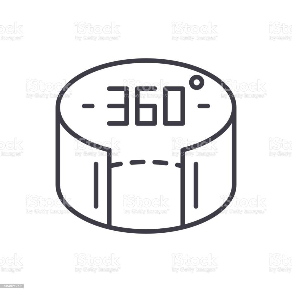360 view black icon concept. 360 view flat  vector symbol, sign, illustration. royalty-free 360 view black icon concept 360 view flat vector symbol sign illustration stock vector art & more images of 360-degree view