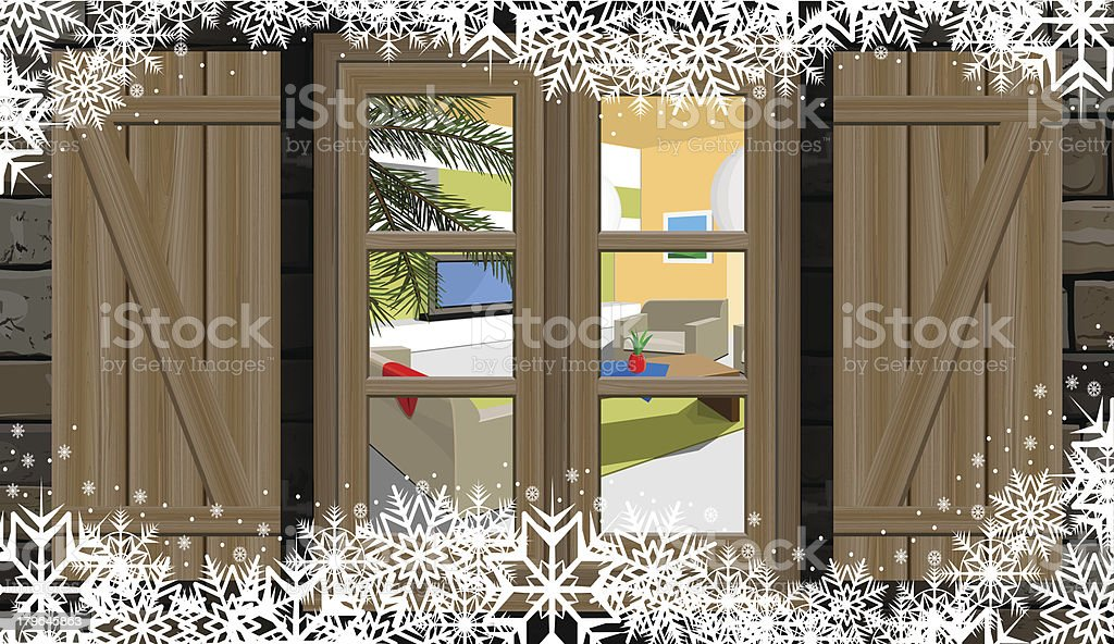 view from the window royalty-free stock vector art