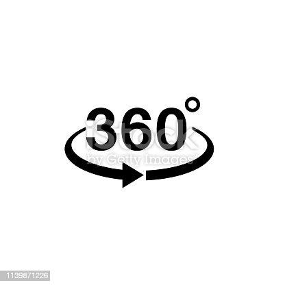 360 view icon graphic design template vector