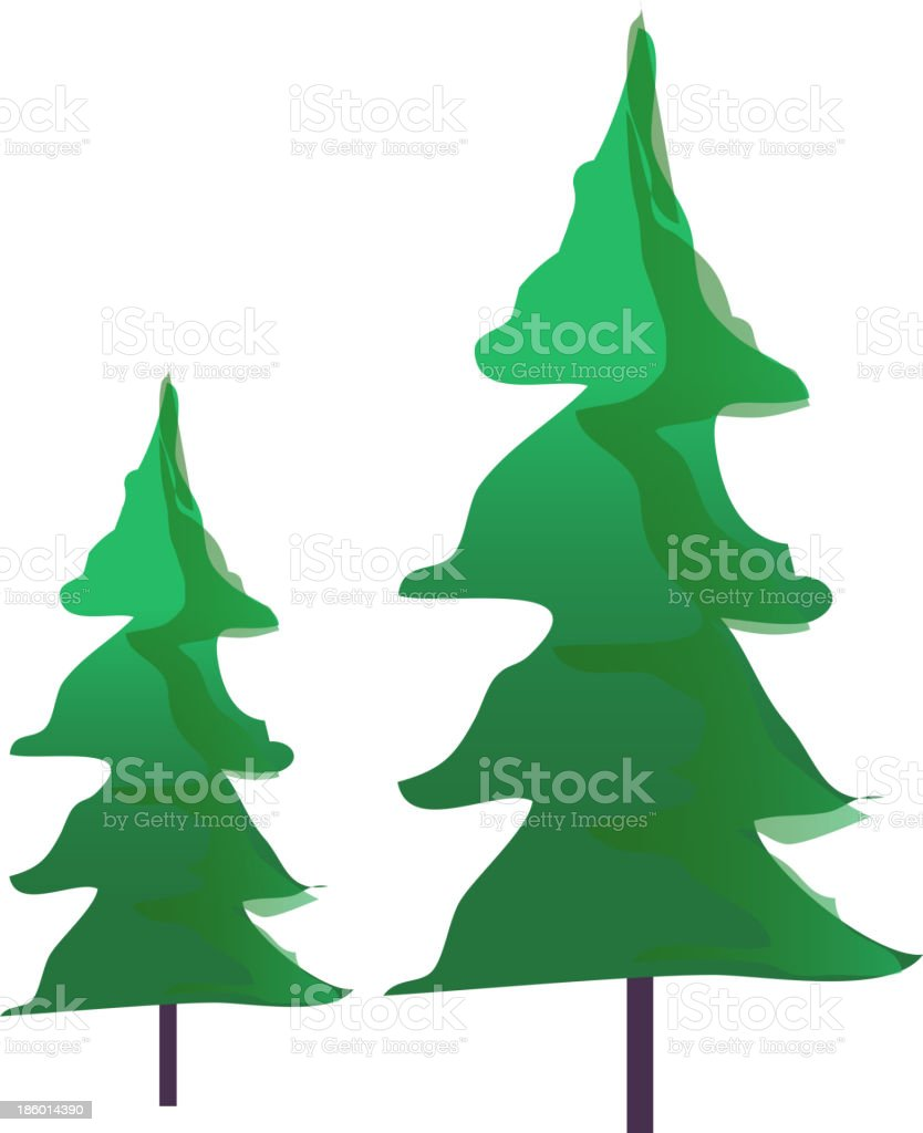 View Of A Tree Stock Vector Art & More Images of Clip Art 186014390 ...