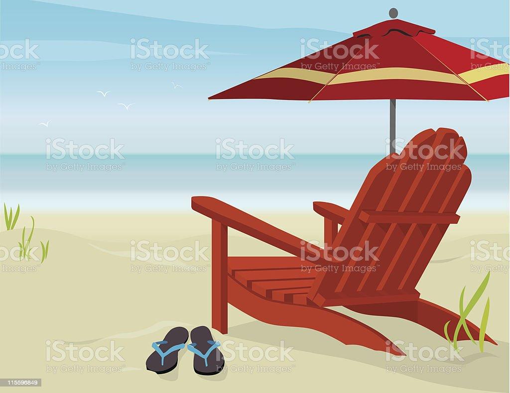 Liegestuhl mit sonnenschirm clipart  Liegestuhl Vektorgrafiken und Illustrationen - iStock