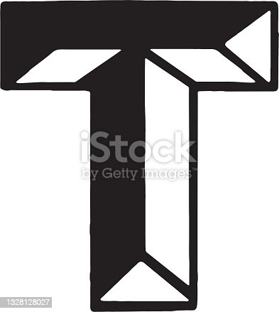 istock View of Greek alphabet letter tau 1328128027