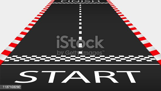 istock View of the  empty asphalt race track 1137103292