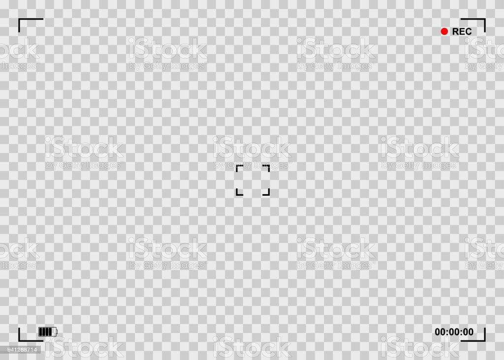 Viewfinder background illustration vector art illustration