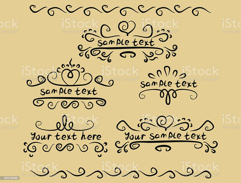vignette place for your text royalty-free stock vector art