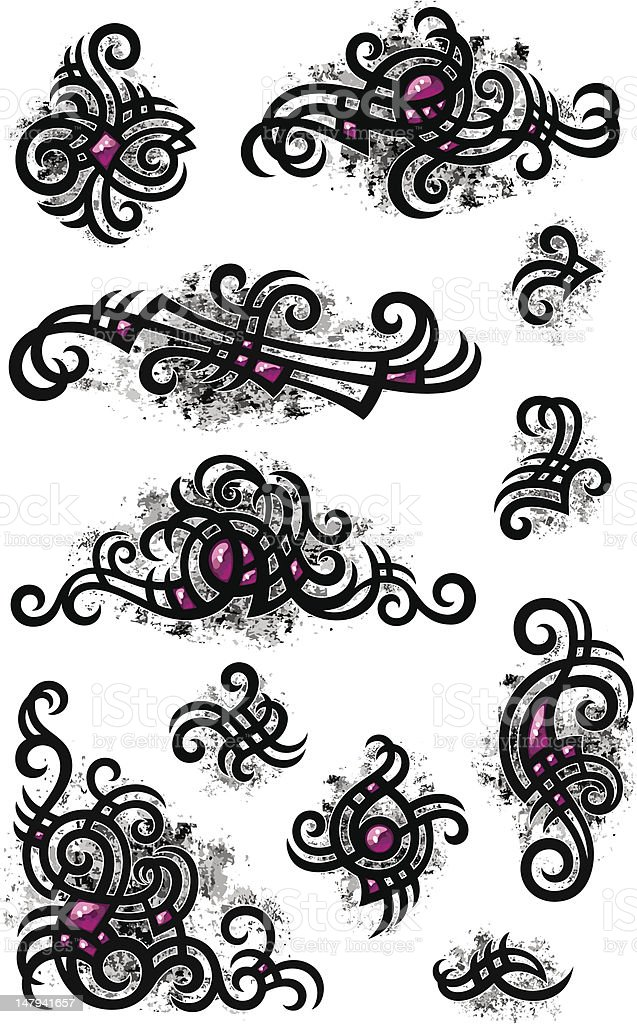 Vignettes in gothic style royalty-free stock vector art