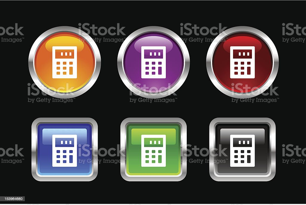 'Vii' Icon Series | Calculator royalty-free stock vector art