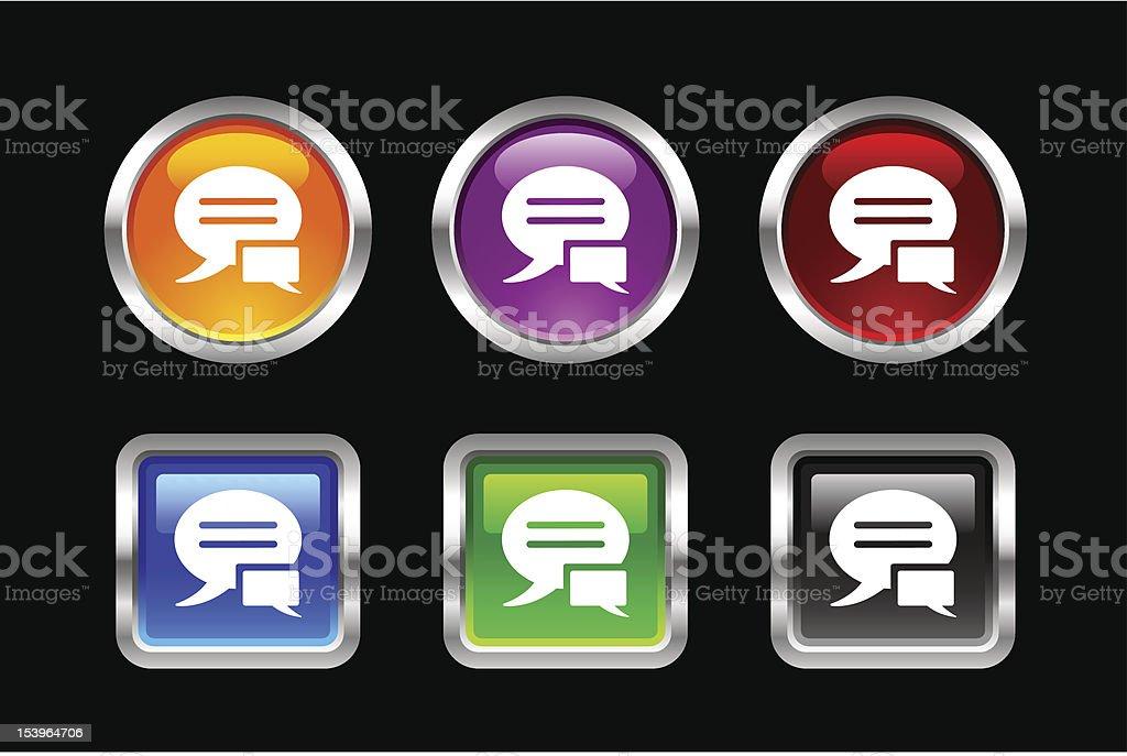 'Vii' Icon Series | Conversation royalty-free stock vector art