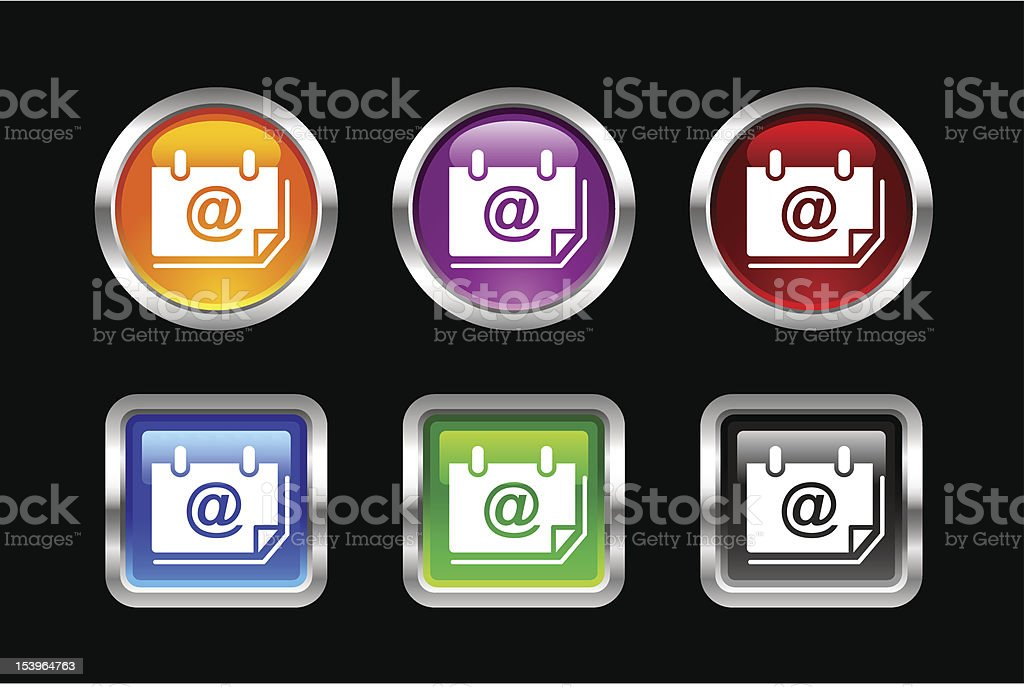 'Vii' Icon Series | Email Address royalty-free stock vector art