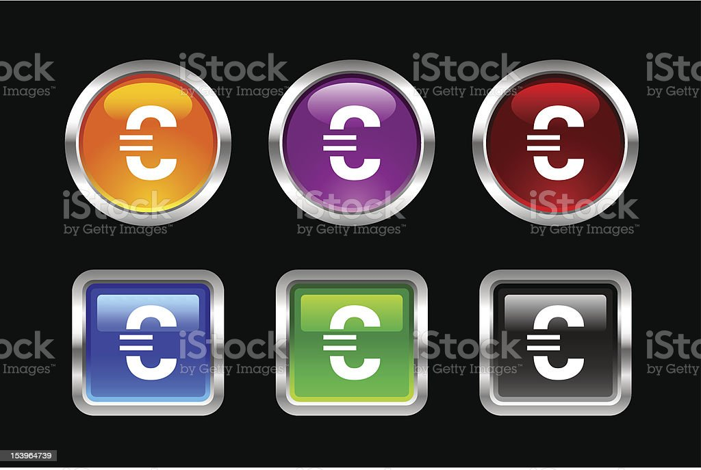 'Vii' Icon Series | Euro Sign royalty-free vii icon series euro sign stock vector art & more images of banking