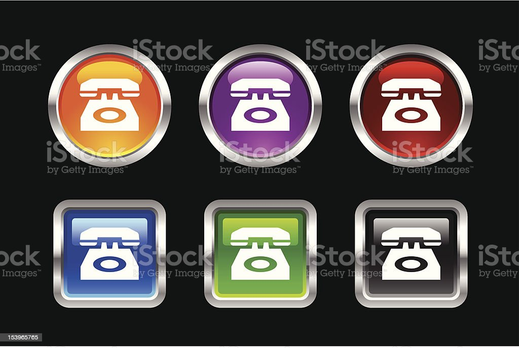 'Vii' Icon Series | Phone royalty-free stock vector art