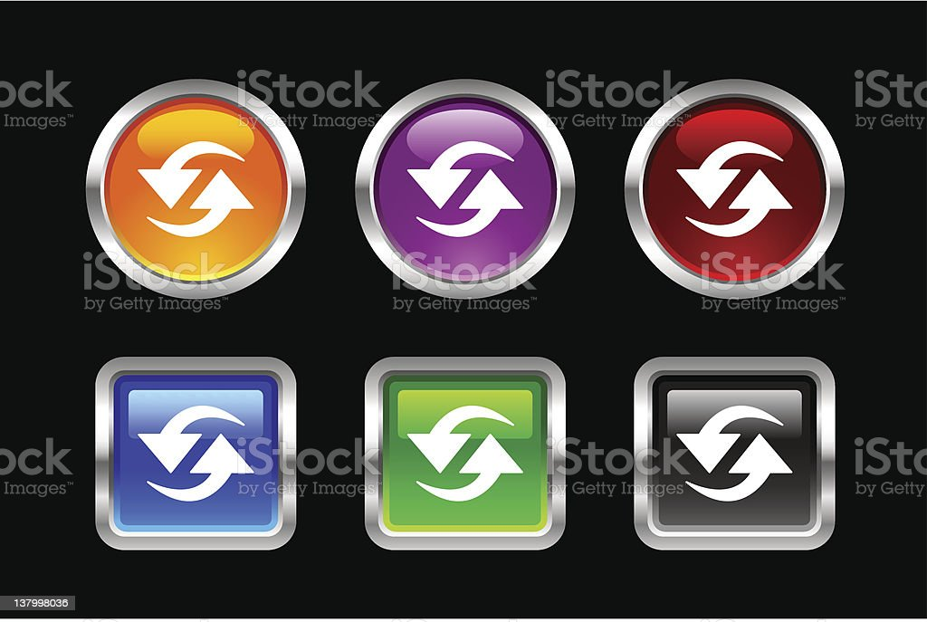 'Vii' Icon Series | Refresh royalty-free vii icon series refresh stock vector art & more images of arrow symbol