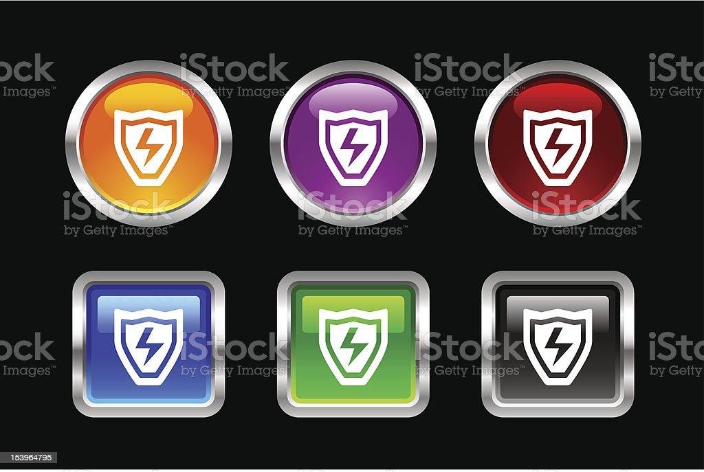 'Vii' Icon Series | Shield royalty-free stock vector art